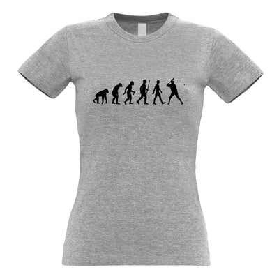 Sport Womens TShirt Evolution Of Baseball Homerun Batter