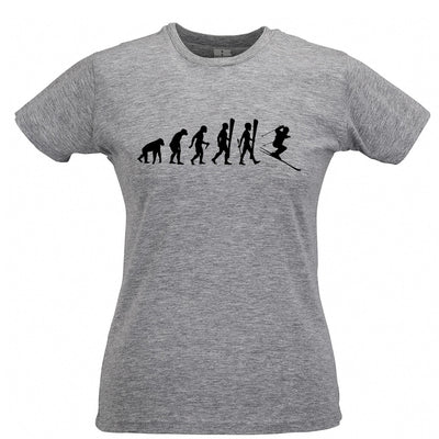 Sports Womens T Shirt The Evolution Of A Ski Jumper