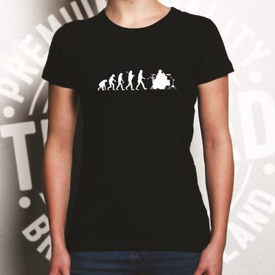 Musician Womens T Shirt Evolution Of A Drummer