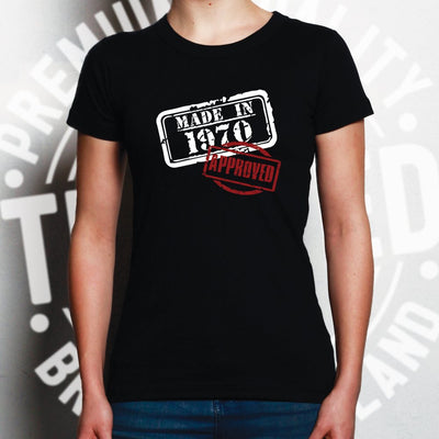 18th Birthday Womens T Shirt Distressed Made in 2002 Approved
