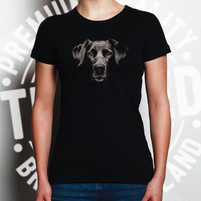 Dog Face Womens TShirt Cute Puppy Head Photo