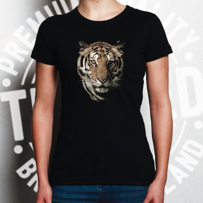 Tiger Face Womens T Shirt Majestic Big Cat Head