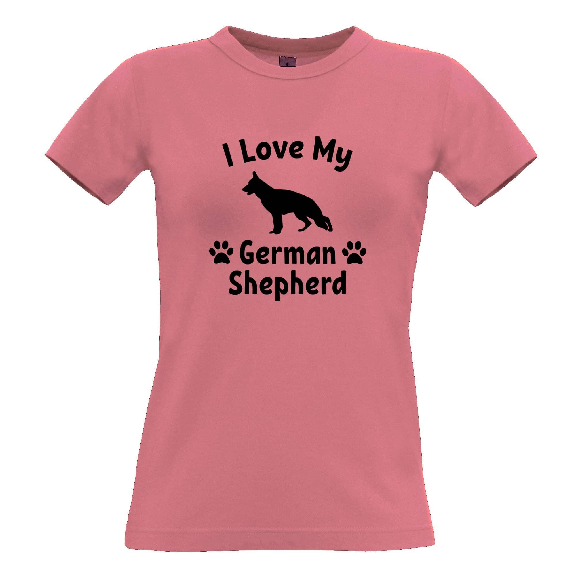 Dog Owner Womens TShirt I Love My German Shepherd