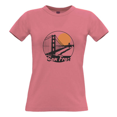 San Francisco Art Womens T Shirt Golden Gate Bridge Landscape