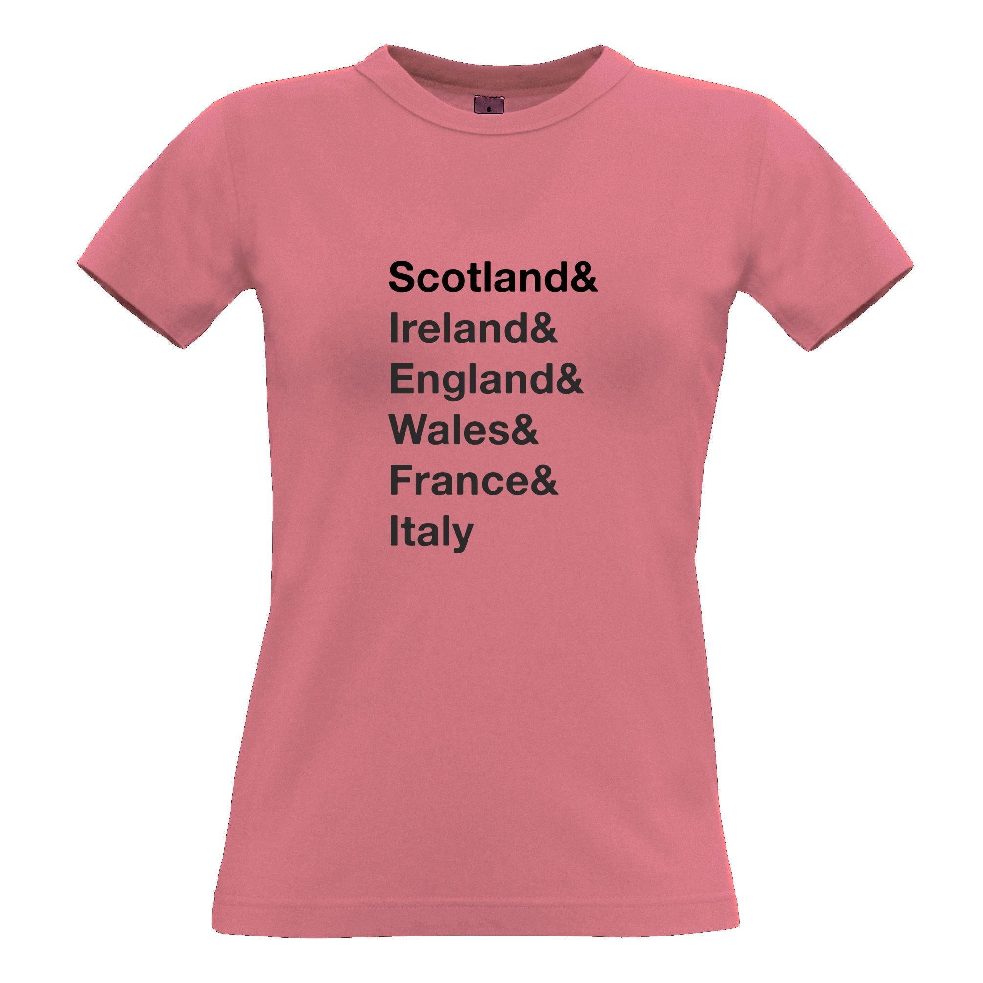 The Six Nations Womens TShirt Scotland, Ireland, England