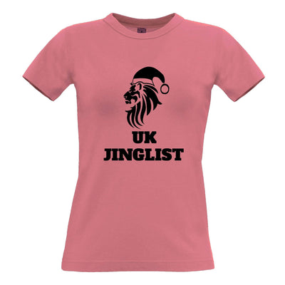Christmas Parody Womens T Shirt UK Jinglist Lion