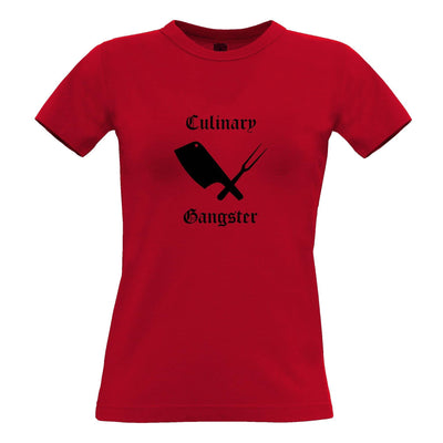 Cooking Womens TShirt Culinary Gangster Cuisine Logo