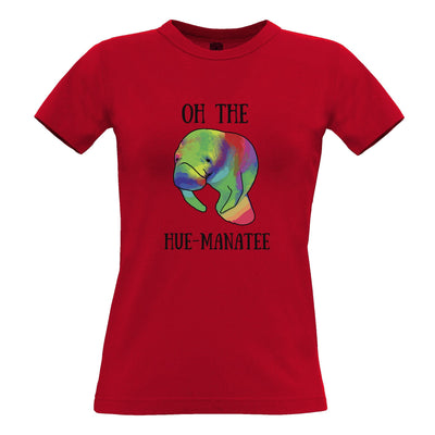 Novelty Pun Womens TShirt Oh The Hue-Manatee Humanity