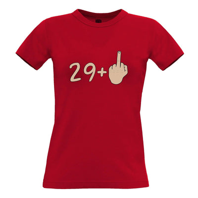 30th Birthday Womens T Shirt 29 plus 1 gesture