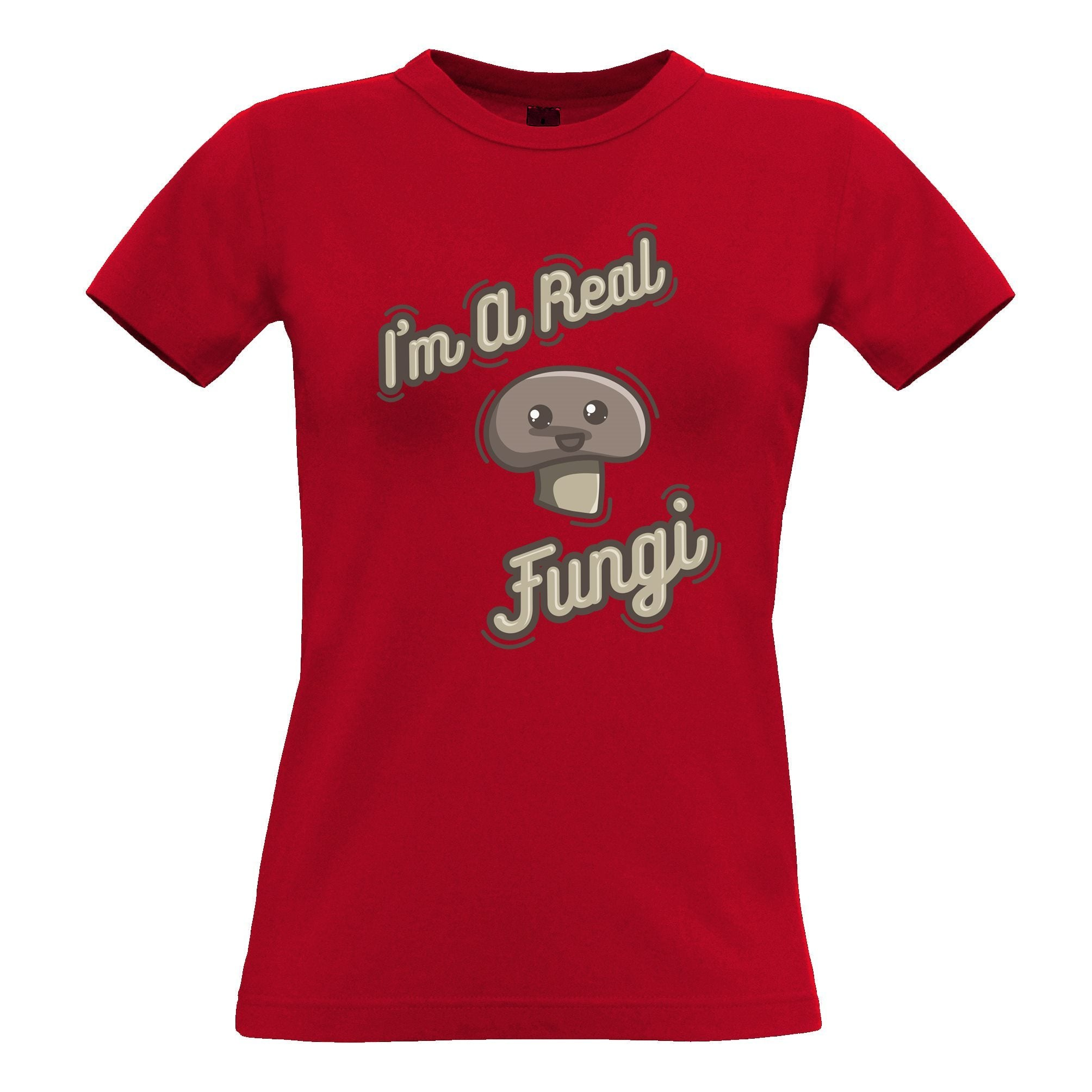 Novelty Vegan Womens T Shirt I'm A Real Fun Guy Fungi Pun