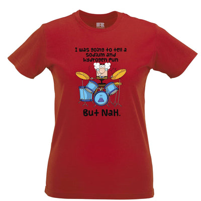 Novelty Nerd Womens T Shirt I Was Going To Tell A Pun But NaH