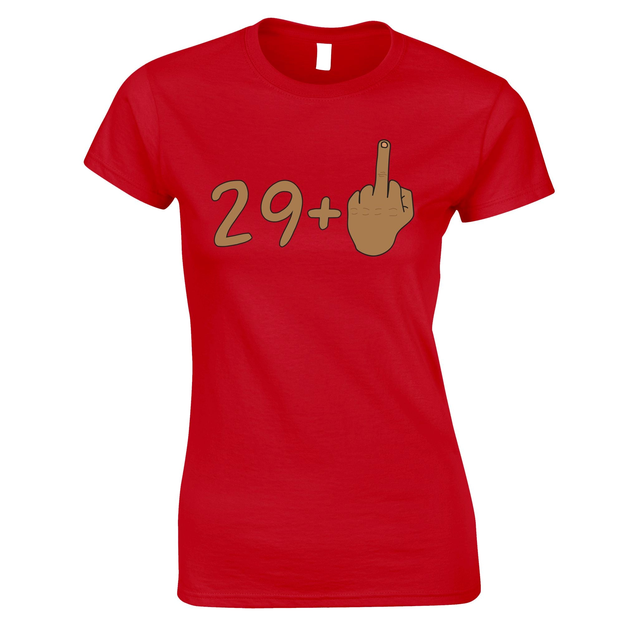Rude 30th Birthday Womens T Shirt Tanned Middle Finger