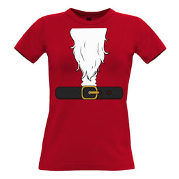 Novelty Xmas Womens Tee Father Christmas Party Costume
