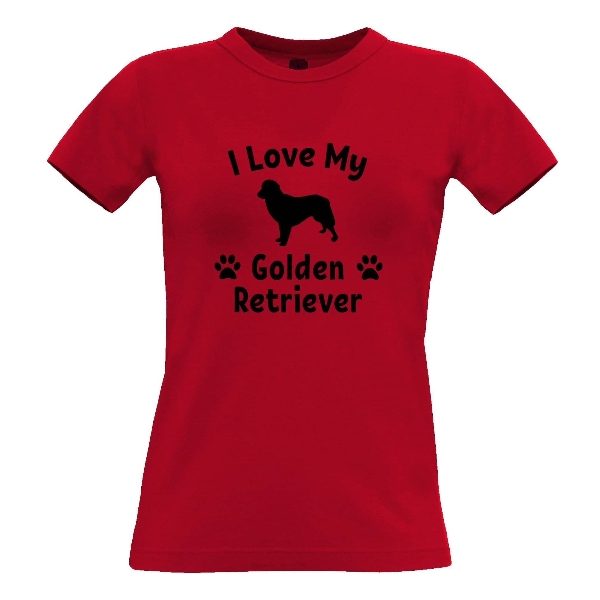 Dog Owner Womens TShirt I Love My Golden Retriever