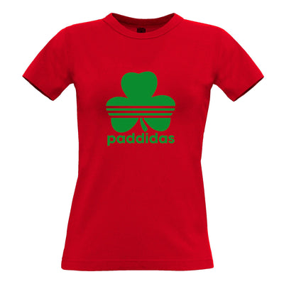 St Patricks Day Womens TShirt Paddidas Paddy Irish Sport Tee
