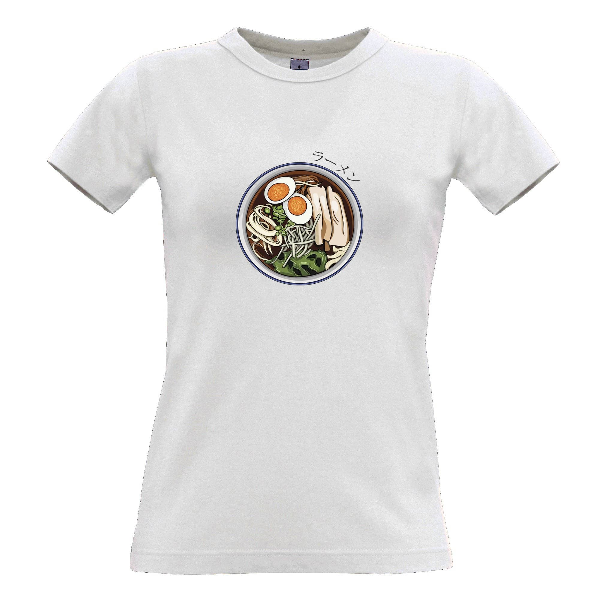 Ethnic Food Womens T Shirt Ramen Noodles And Japanese Text
