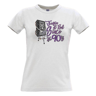 90's Birthday Womens TShirt Keeping It Real SInce The 90's