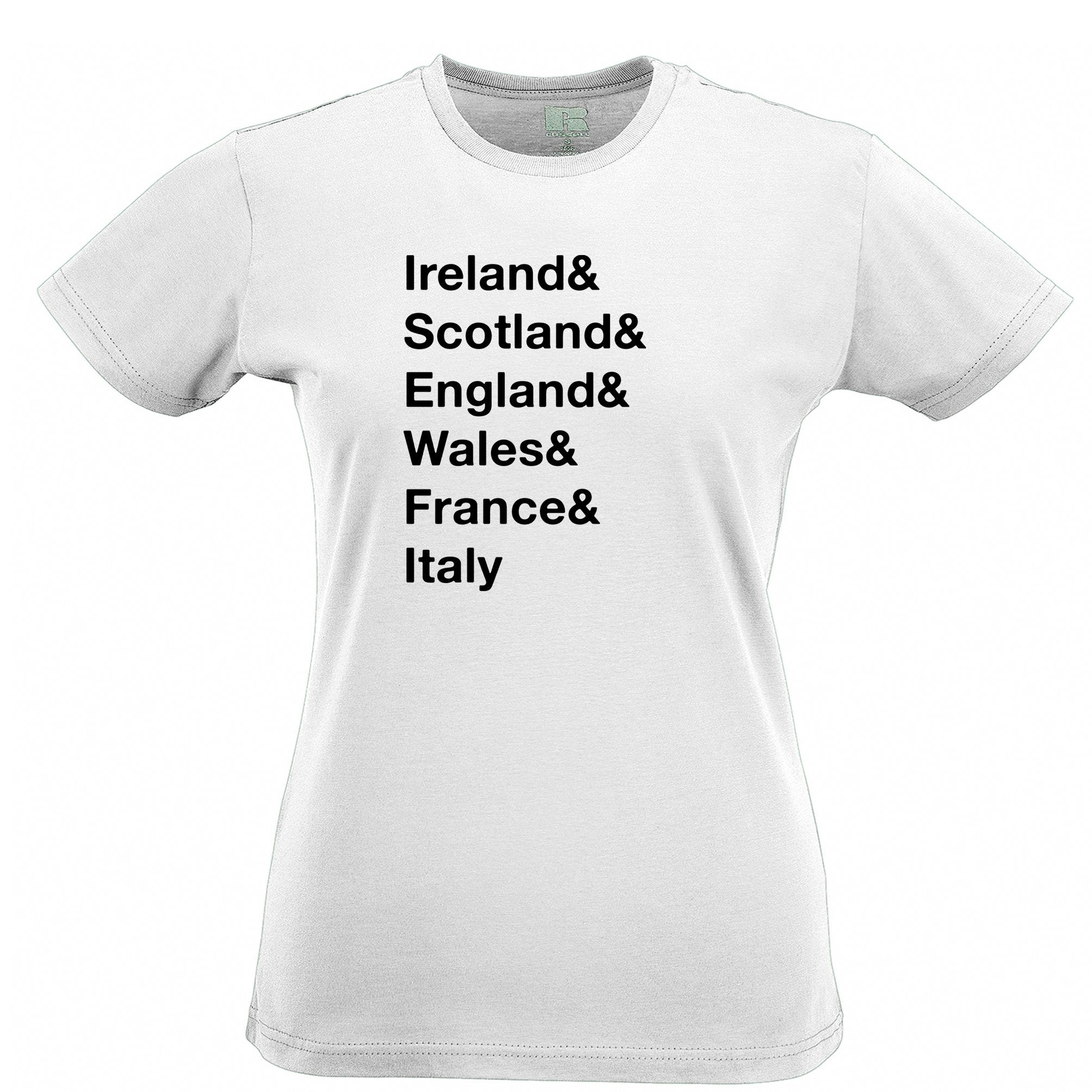 The Six Nations Womens TShirt Ireland, Scotland, England