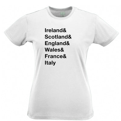 The Six Nations Womens T Shirt Ireland, Scotland, England