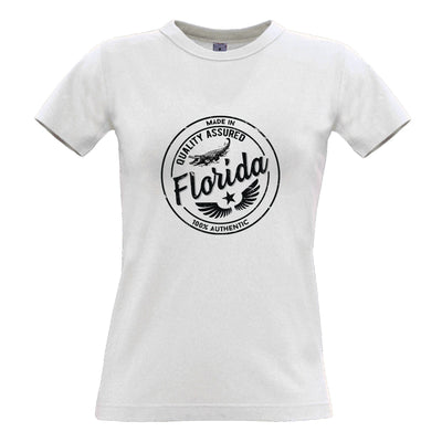 Hometown Pride Womens T Shirt Made in Florida Stamp