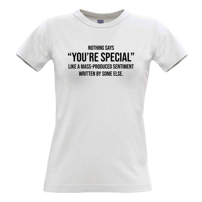 Valentines Day Womens T Shirt You're Special Text