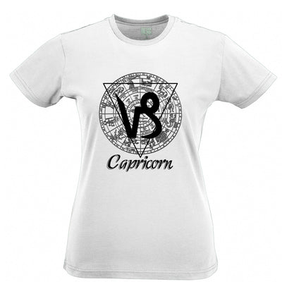 Horoscope Womens T Shirt Capricorn Zodiac Star Sign Birthday