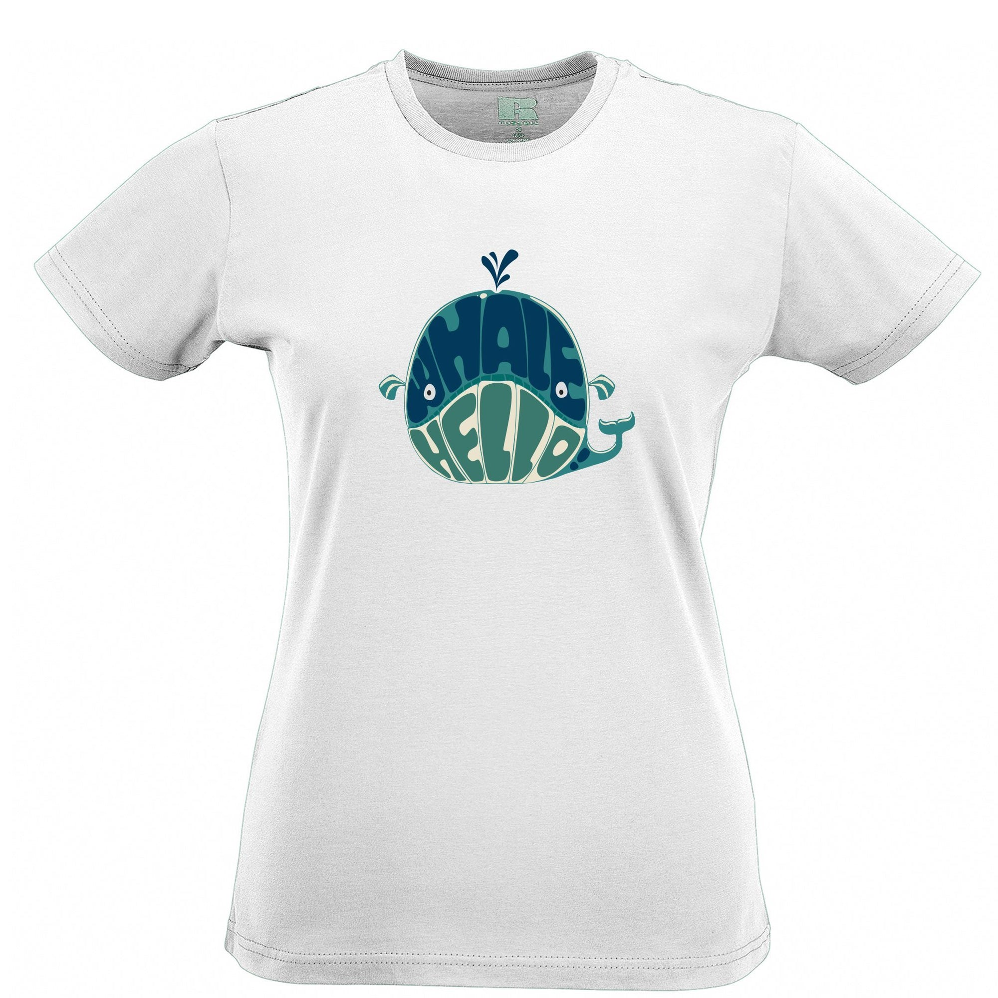 Novelty Womens T Shirt Whale Hello Sea Life Pun