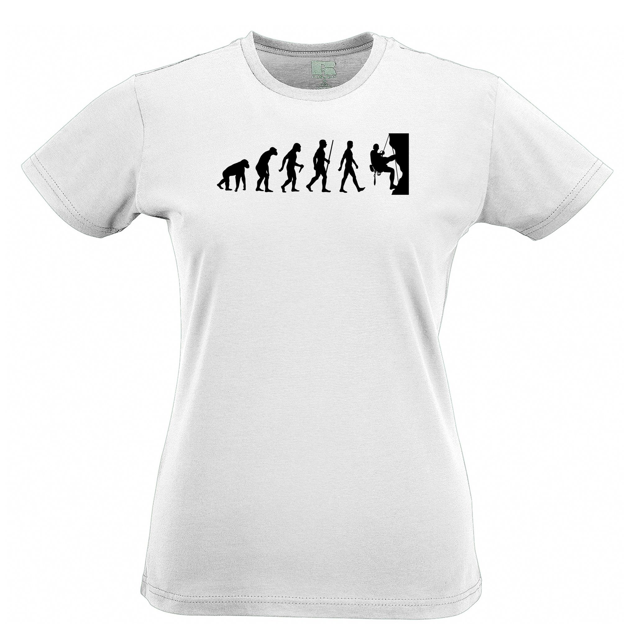 Sports Womens TShirt The Evolution Of Rock Climbing