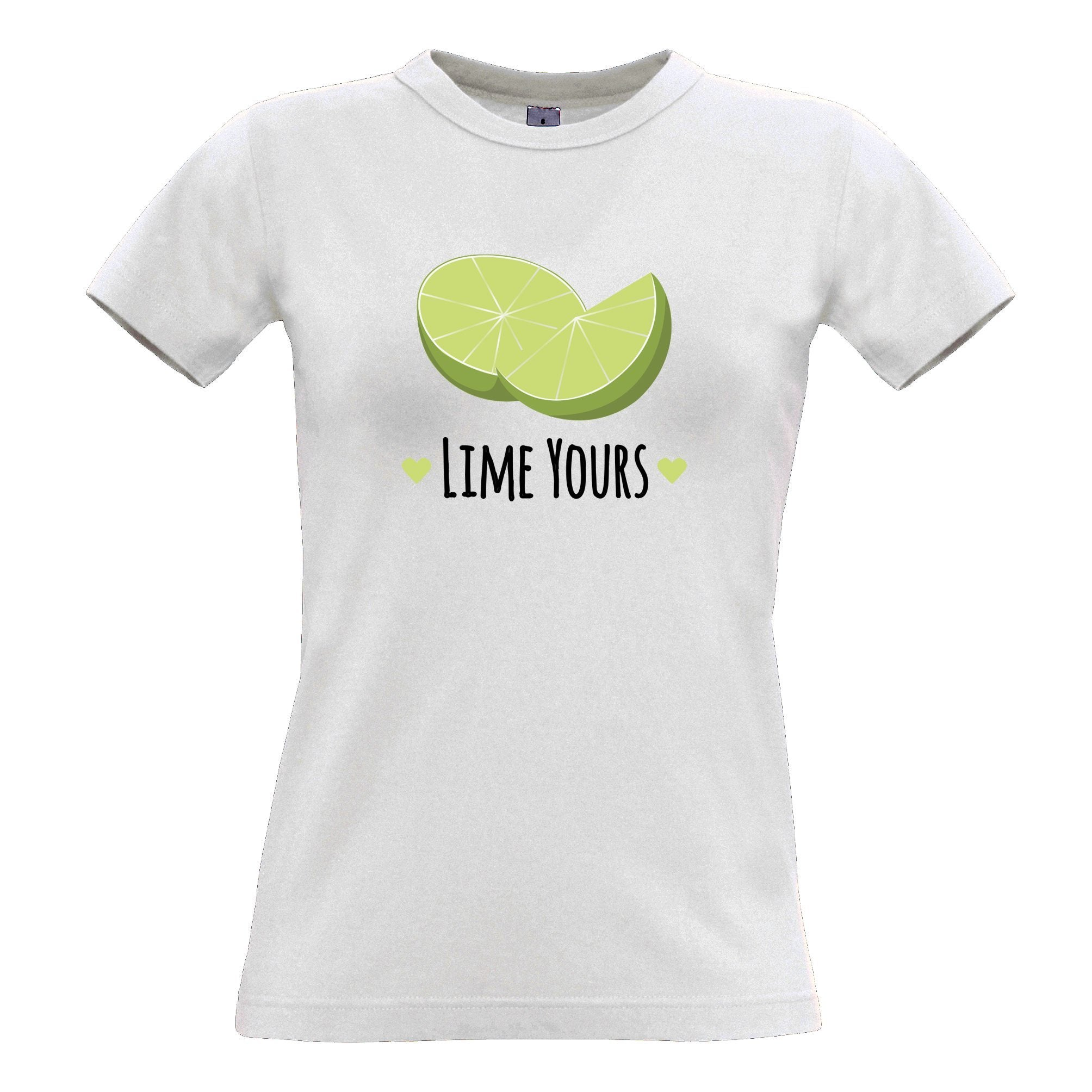 Novelty Couples Pun Womens T Shirt I'm Yours Lime Joke Slogan