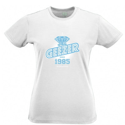 33rd Birthday Womens T Shirt Diamond Geezer Since 1985
