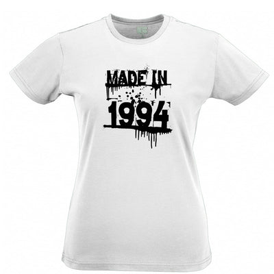 Birthday Womens T Shirt Made In 1994 Graffiti
