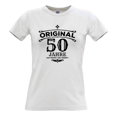 50th Birthday Womens T Shirt Original Aged 50 Fifty Years