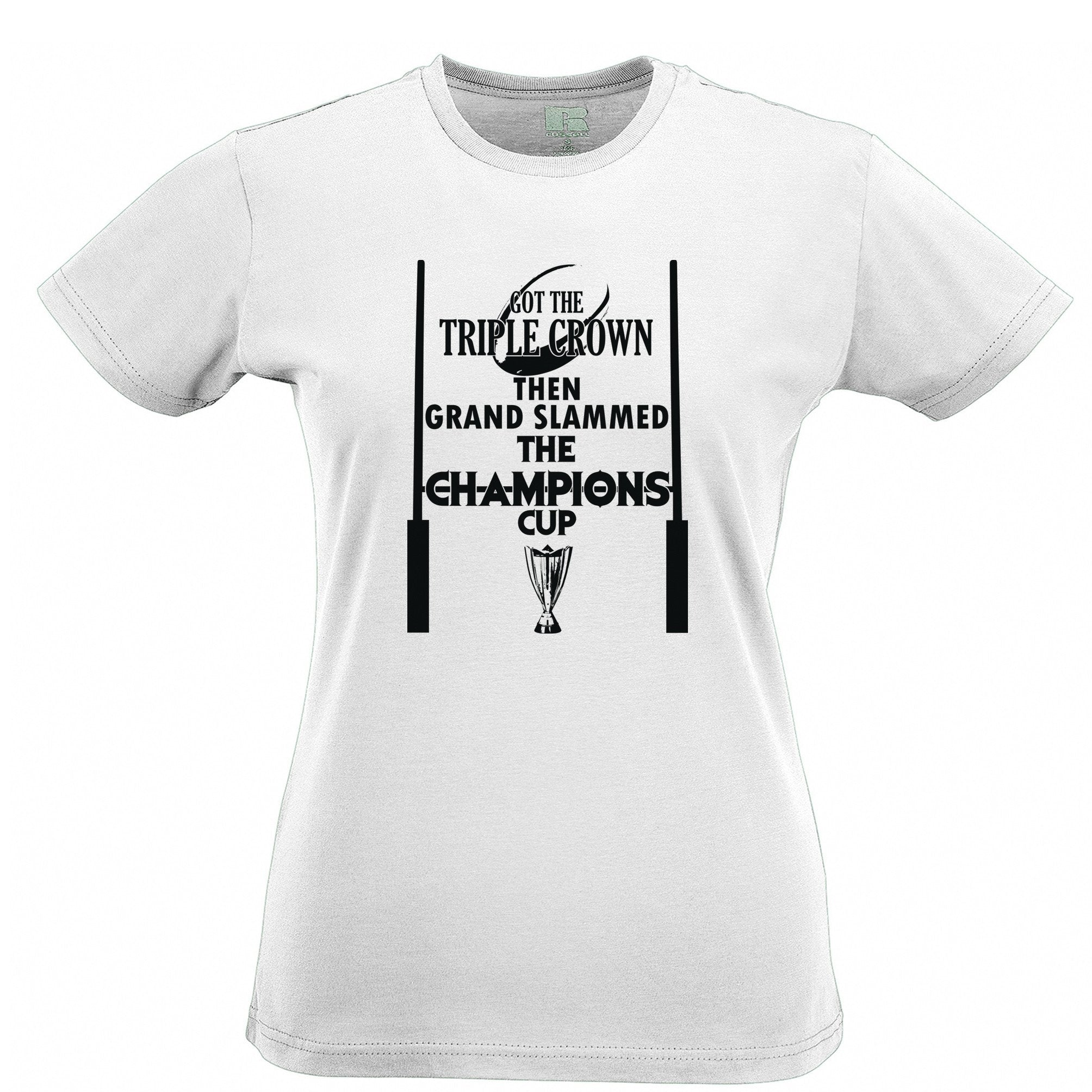 Triple Crown Womens T Shirt Then Grand Slammed Champions Cup
