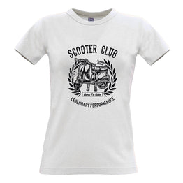 Motorbike Womens Tee Scooter Club Legendary Performance