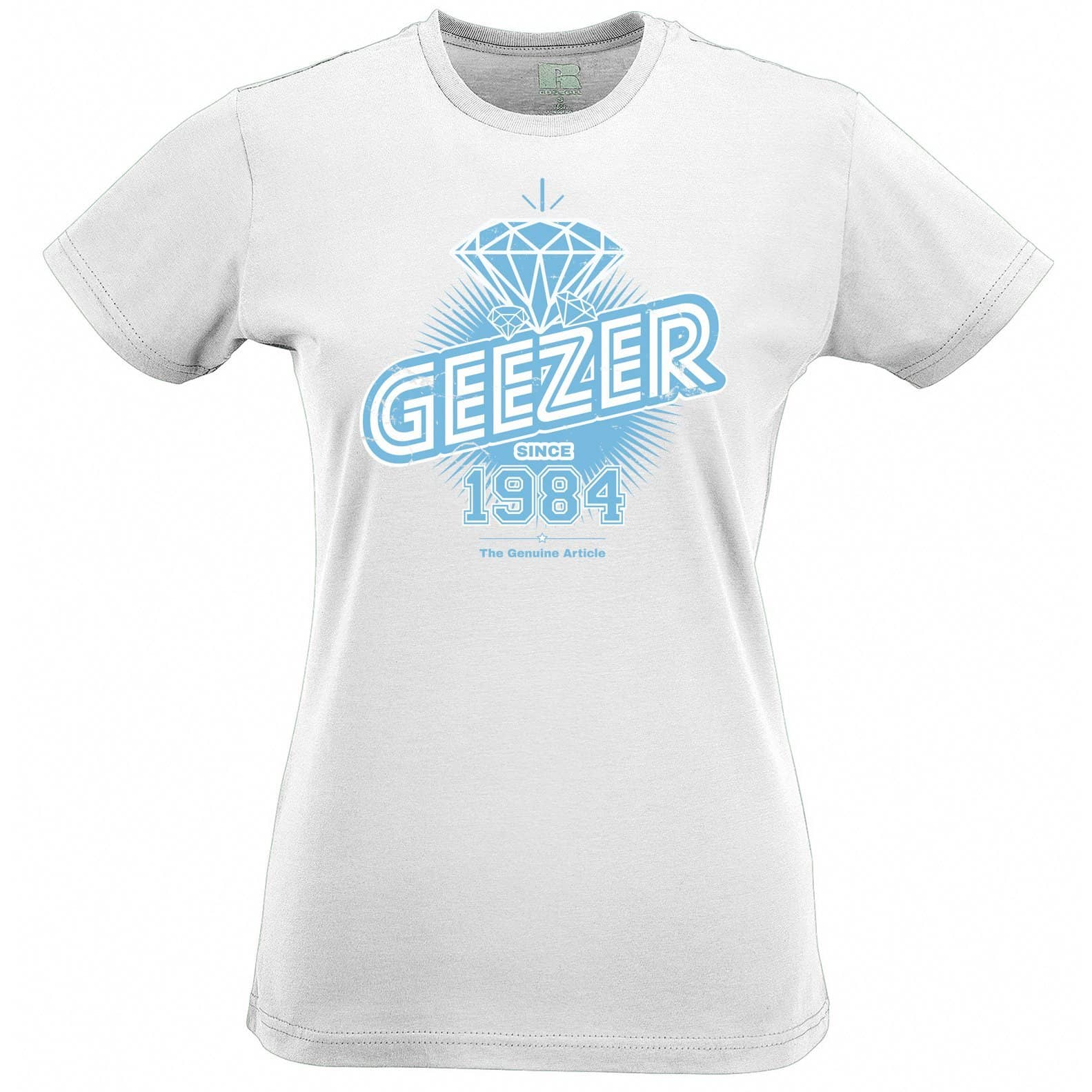 34th Birthday Womens Tee Diamond Geezer Since 1984