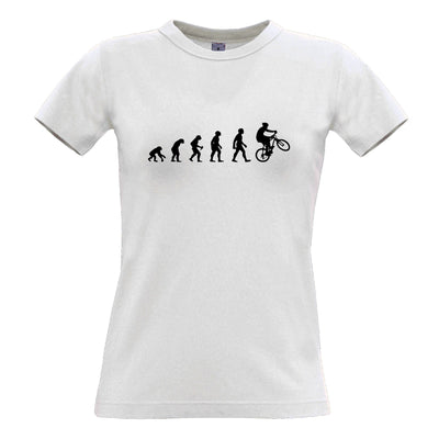 Sports Womens TShirt Evolution Of A Mountain Biker