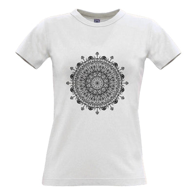 Summer Art Womens T Shirt Indian Mandala Pattern Design