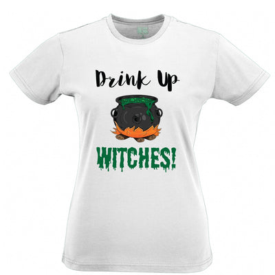 Halloween Womens TShirt Drink Up, Witches Cauldron