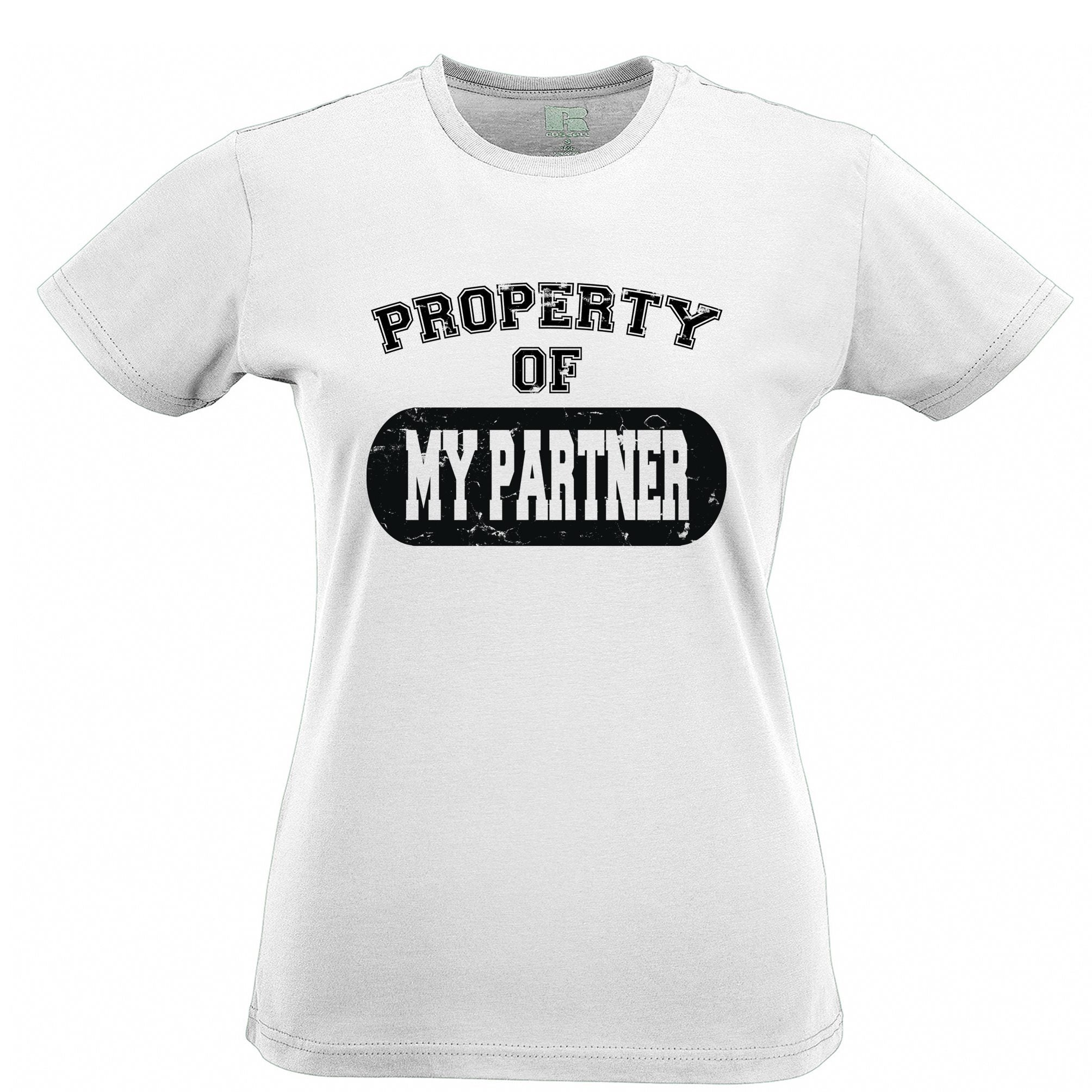 Valentine's Day Womens TShirt Property Of My Partner