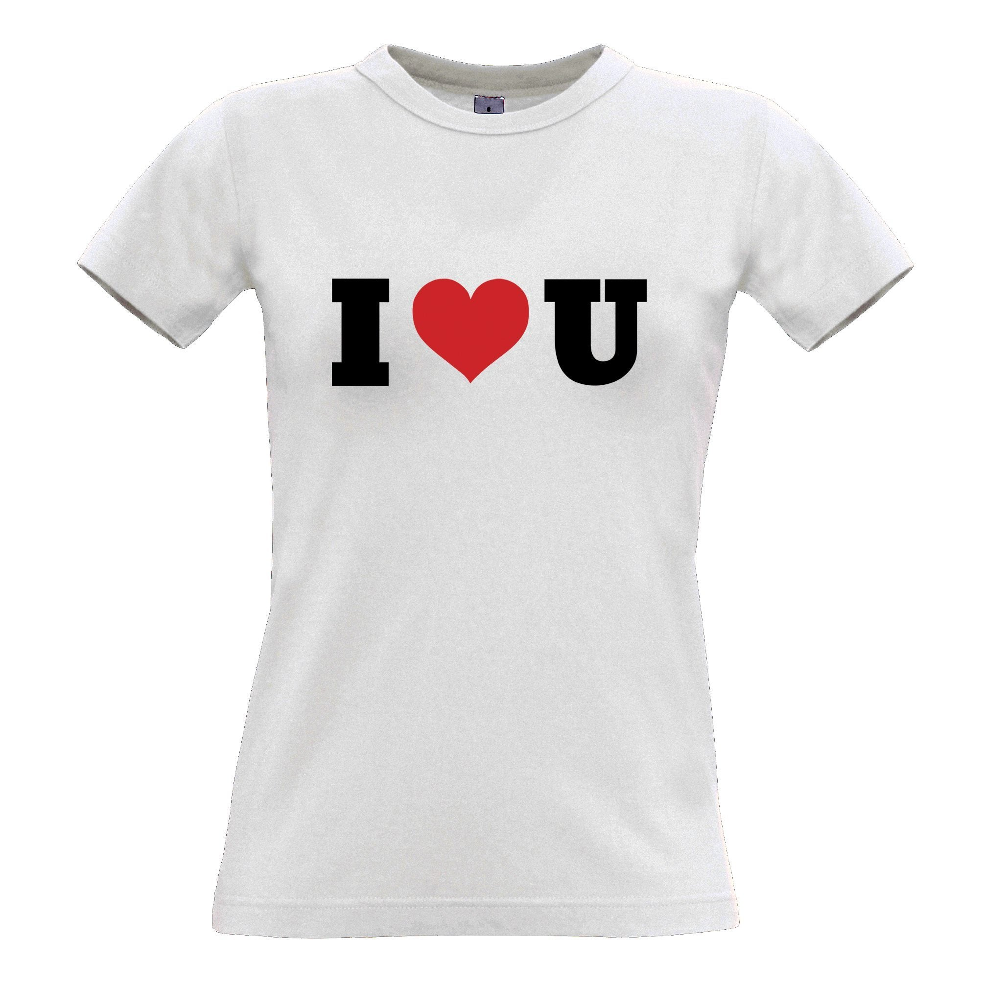 Valentine's Day Womens T Shirt I Heart You U