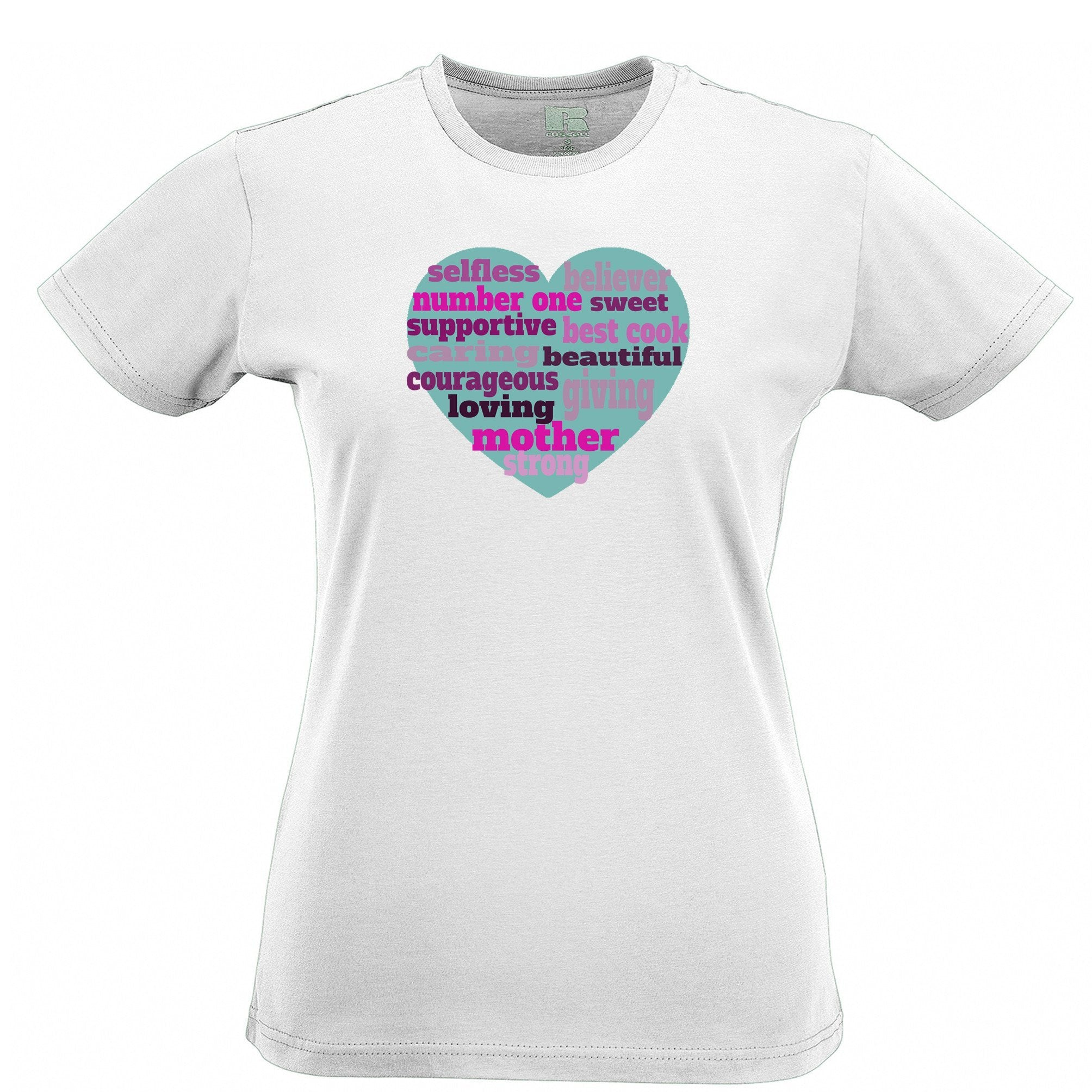 Mother's Day Womens T Shirt Heart Of Mum Mom