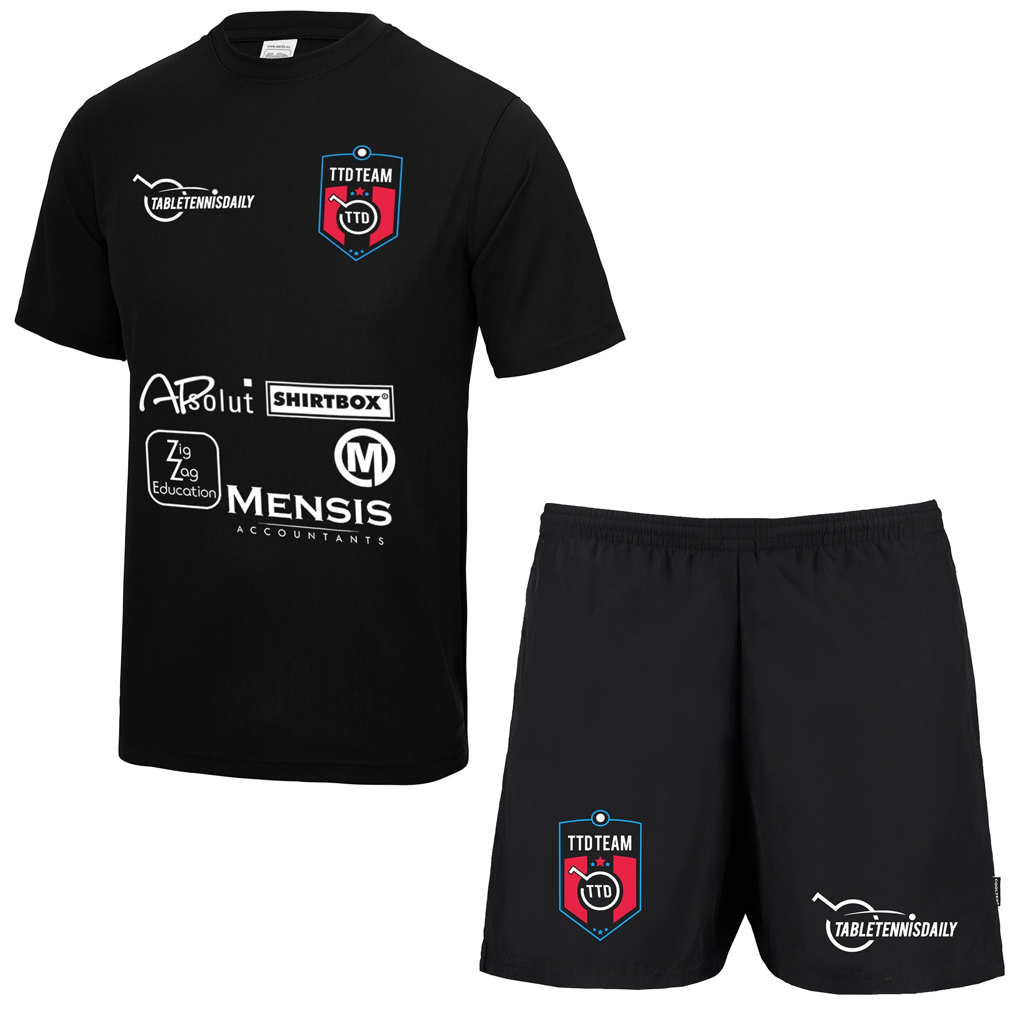TTD Team High Performance Table Tennis Shirt and Shorts