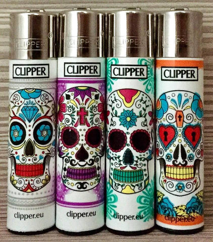 CLIPPER MEXICAN COLORFUL SKULLS