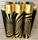 CLIPPER LARGE METAL PSYCHEDELIC GOLD