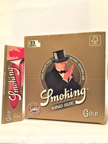 Cartine Smoking Gold lunghe 50 blocchetti