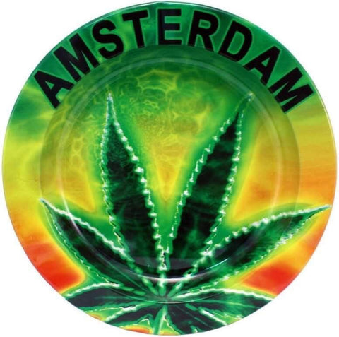 AMSTERDAM WEED METAL ASHTRAY