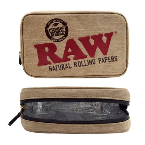 RAW SMELL PROOF SMOKERS POUCH LARGE