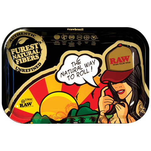 "RAW ROLLING TRAY ""BRAZIL-Limited Edition"""
