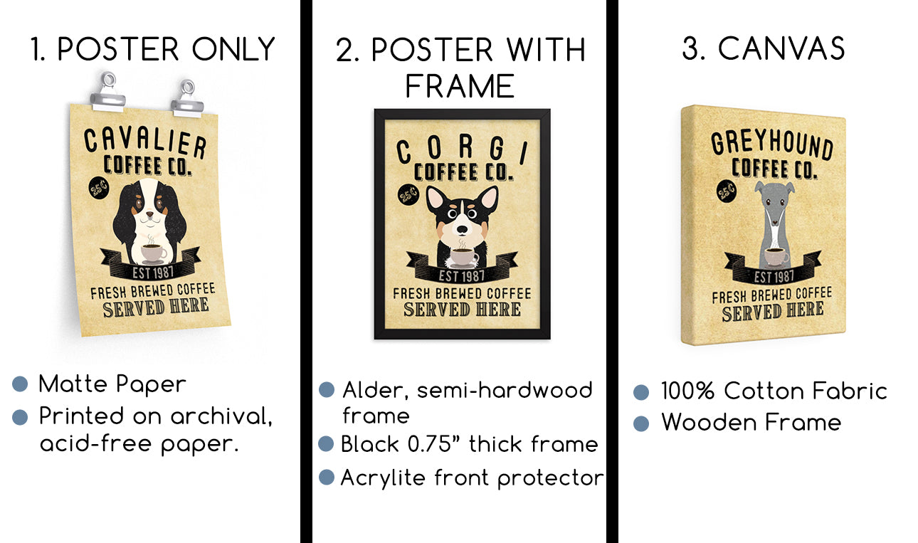 Goldendoodle Wall Art Print Coffee Dog Wall Decor Kitchen Bar Coffee The Pawster