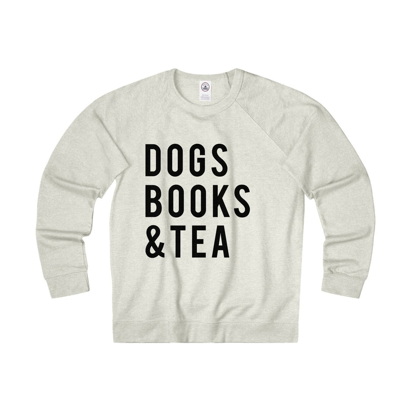 Dogs Books and Tea Dog Unisex Sweatshirt, Funny Dog Lover Sweaters Gifts
